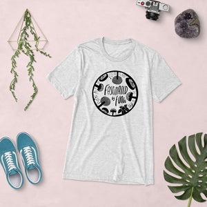 Fascinated By Fungi (@SimpleSerene Circle Logo) Unisex Triblend