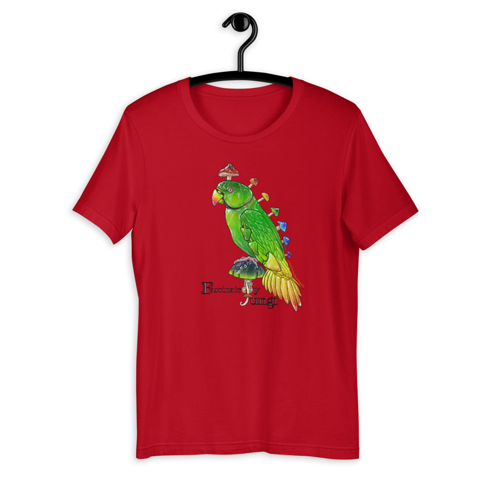 Fascinated By Fungi (Parrot Mushroom @ThePenandPangolin) T-shirt Unisex