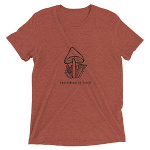 Fascinated By Fungi (Plain Logo Black) - Unisex Triblend