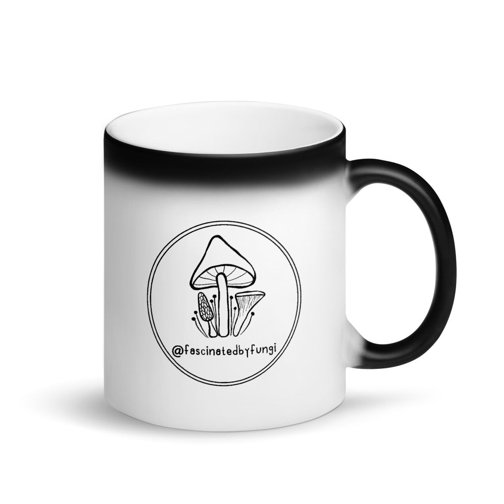 Fascinated By Fungi (Black Logo) Matte Mug