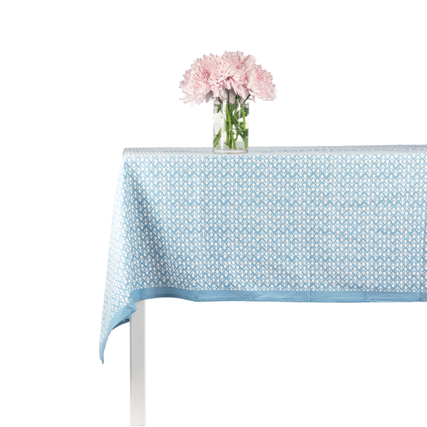Blue Floral Tablecloth