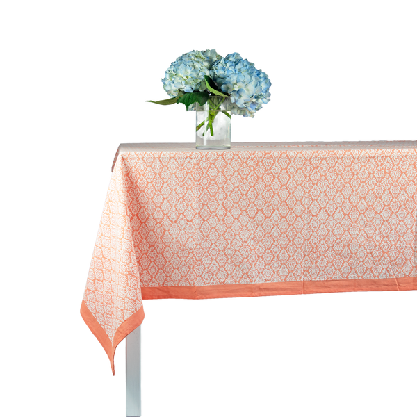 Coral Peacock Tablecloth