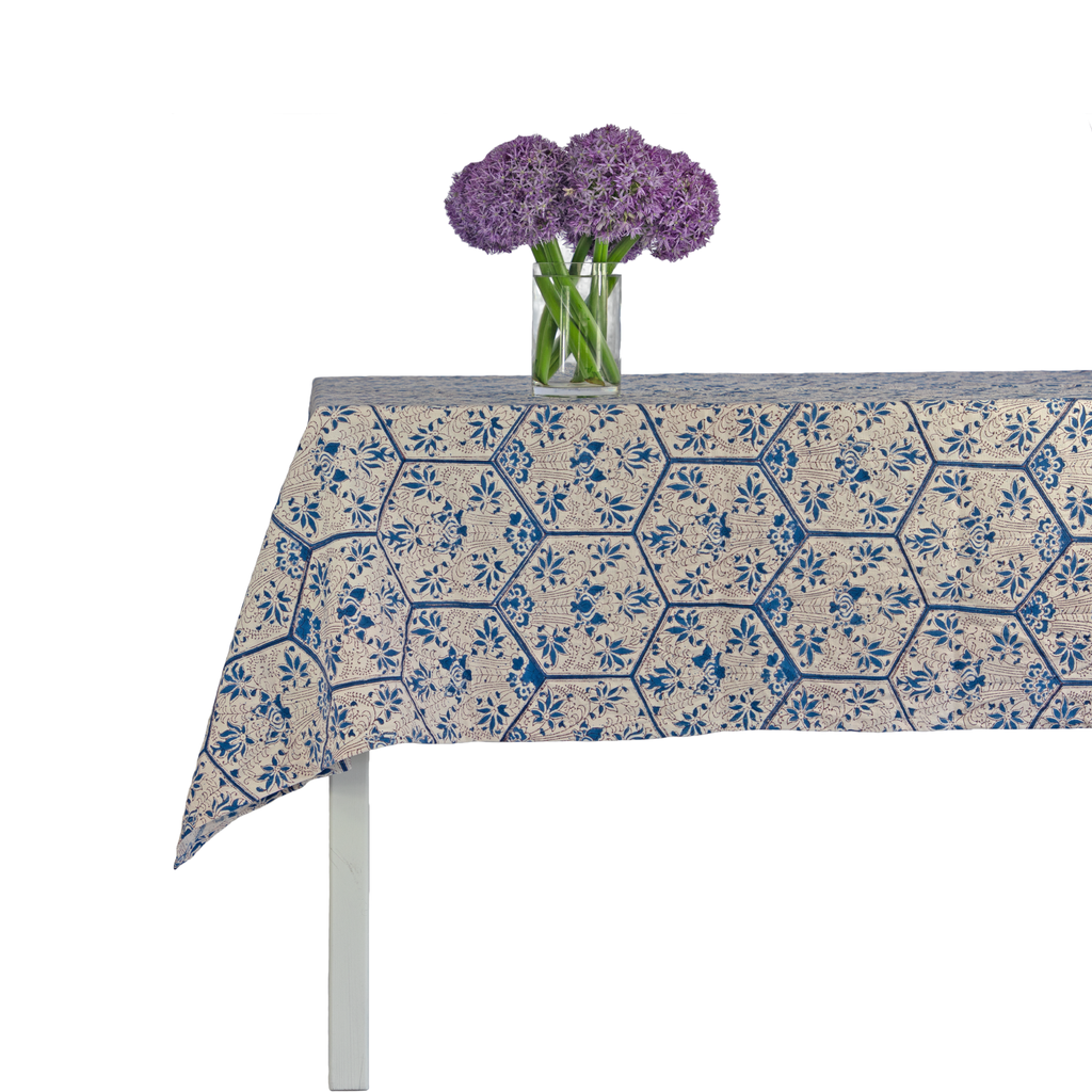 Floral Hex Tablecloth