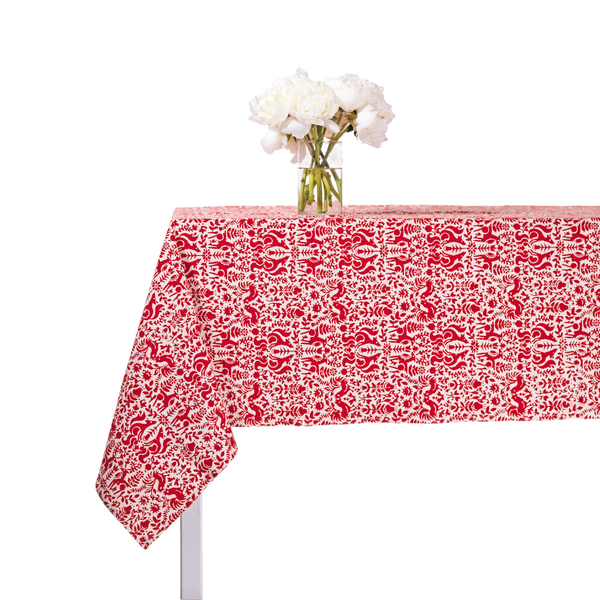 Red Batik Tablecloth