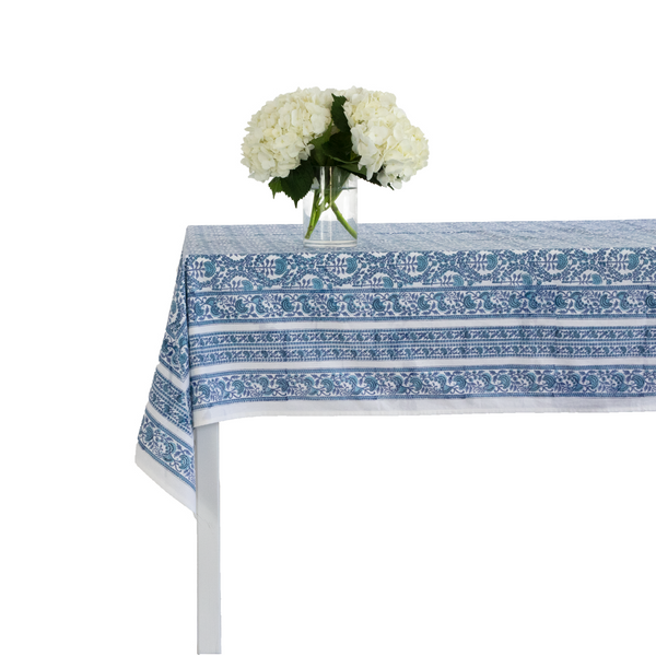 Caroline Blue Tablecloth