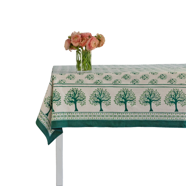 Jade Paisley Tablecloth