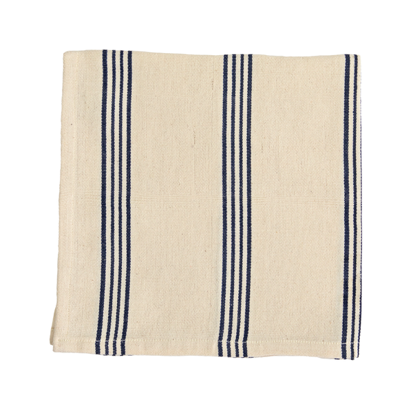 Blue Triple Stripe Napkin