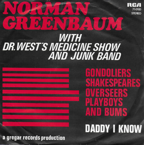 Norman Greenbaum with Dr. West's Medicine Show and Junk Band - Gondoliers shakespeares overseers playboys and bums