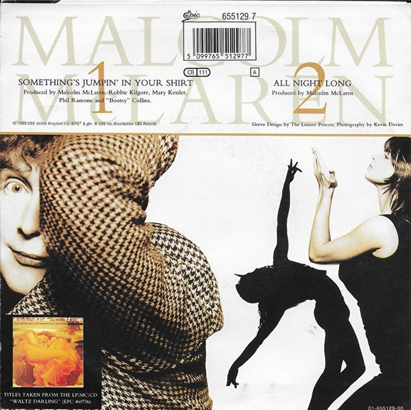 Lisa Marie with Malcolm McLaren - Something's jumpin' in your shirt