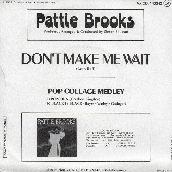 Pattie Brooks - Don't make me wait