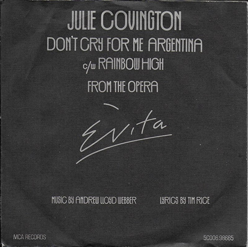 Julie Covington - Don't cry for me Argentina
