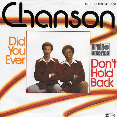 Chanson - Don't hold back