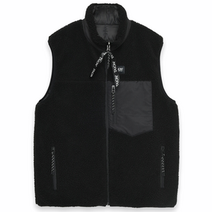 Taion - Down × Boa Reversible Vest (Black / Black)