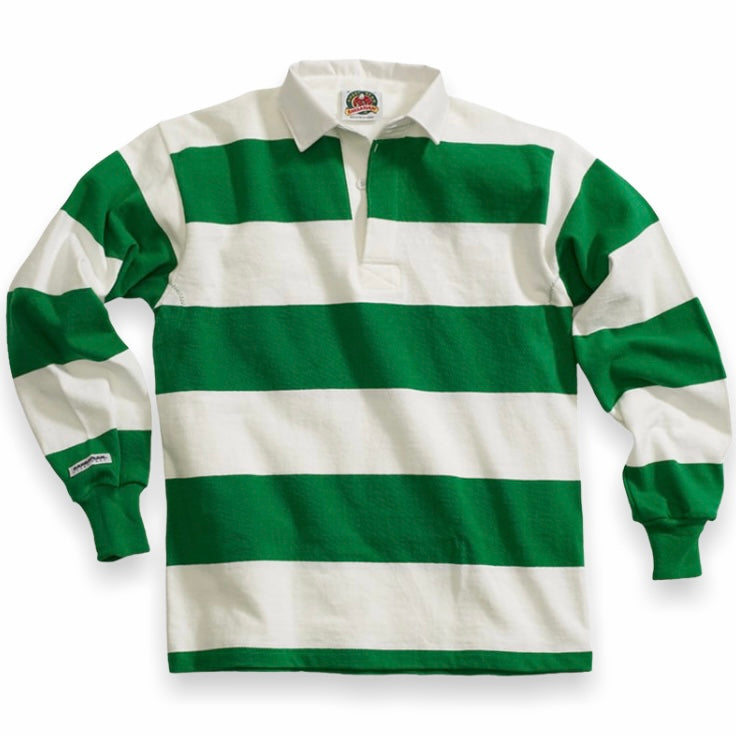 Barbarian - Rugby Shirt 4 Inch Stripe (White / Kelly)
