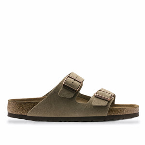 Birkenstock - Arizona Suede SFB Suede Leather (Taupe)