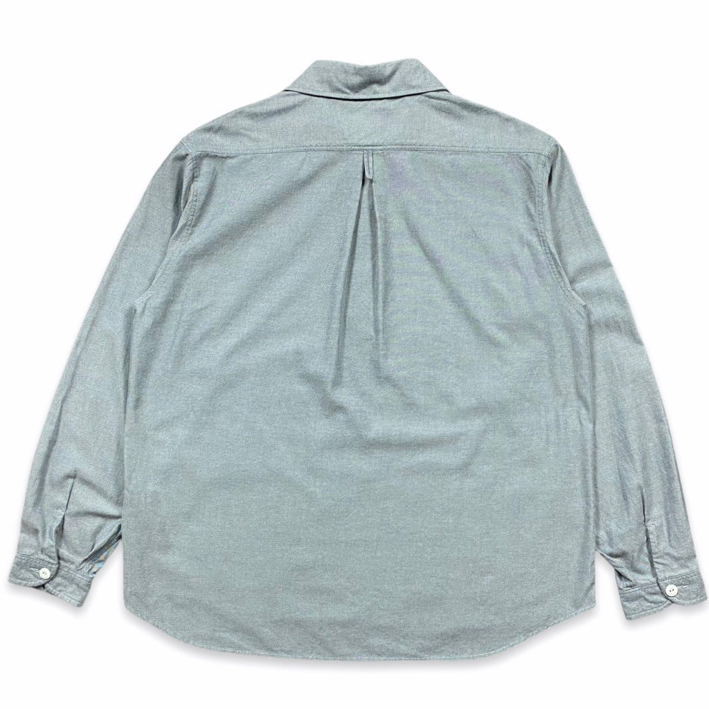 Danton - Shawl collar chambray shirt (Grey Chambray)