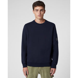 C.P. Company - Diagonal Raised Fleece Lens Crew Sweat (Total Eclipse)