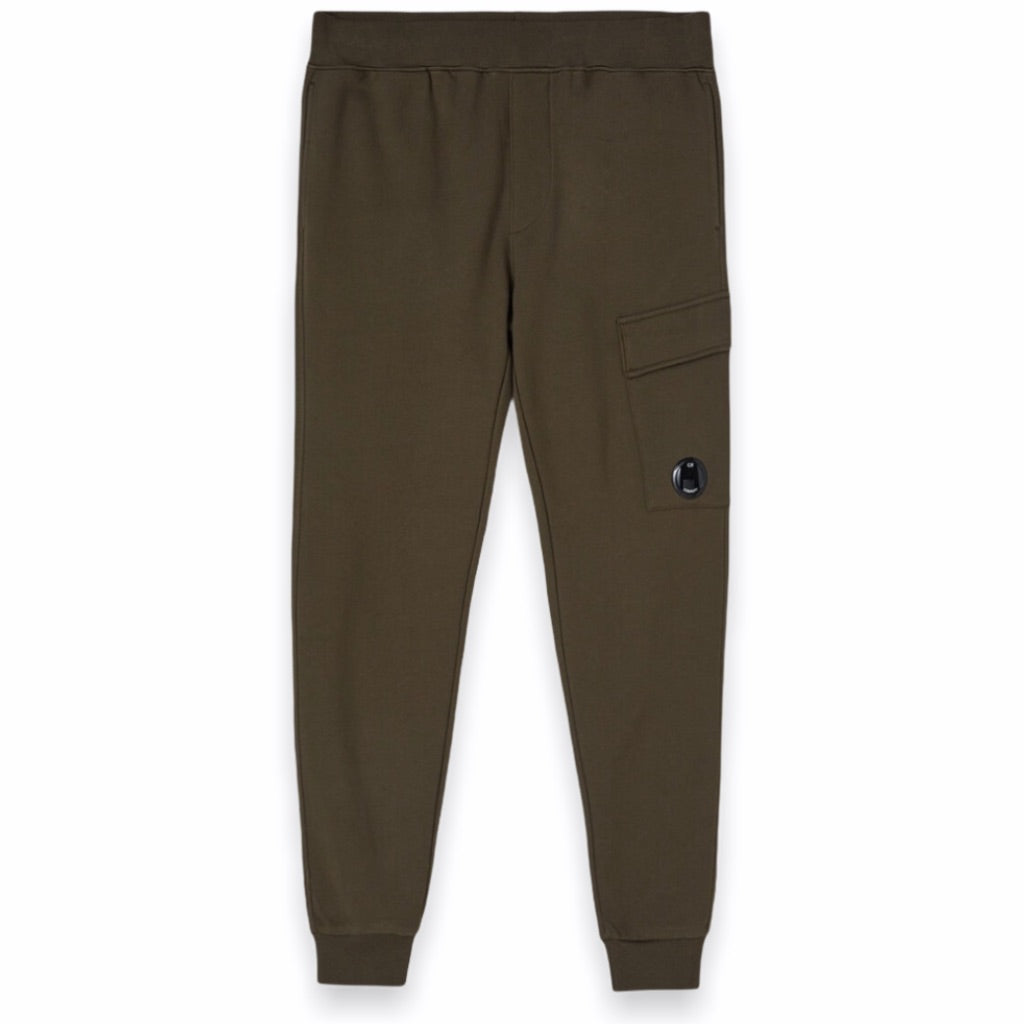 C.P. Company - Diagonal Raised Fleece Lens Pocket Sweatpants (Ivy Green)