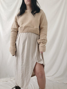 Cropped Oatmeal Jumper - Size M/L