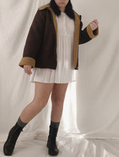 Load image into Gallery viewer, Deep Chocolate Caramel Sheepskin Jacket - Size M/L