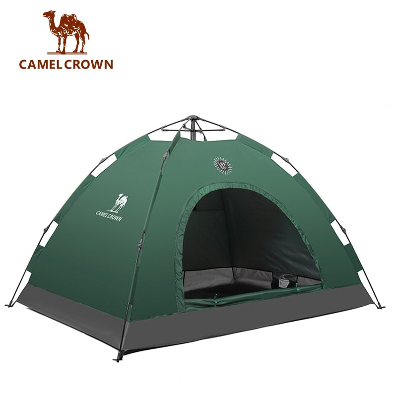 2 People Single Layer Quick Automatic Opening Tent Ultralight Tent Waterproof - Canada Camp and Hike