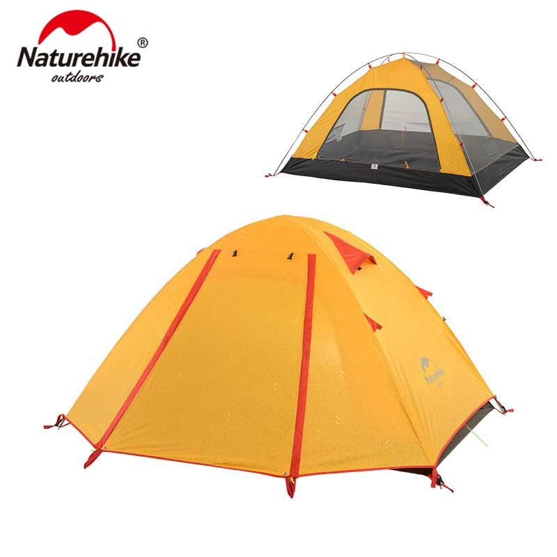 NatureHike P Series Classic Camping Tent 210T Fabric For 2 Persons - Canada Camp and Hike