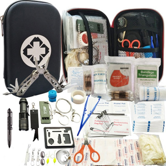 80 in 1 Outdoor  first aid survival kit - Canada Camp and Hike
