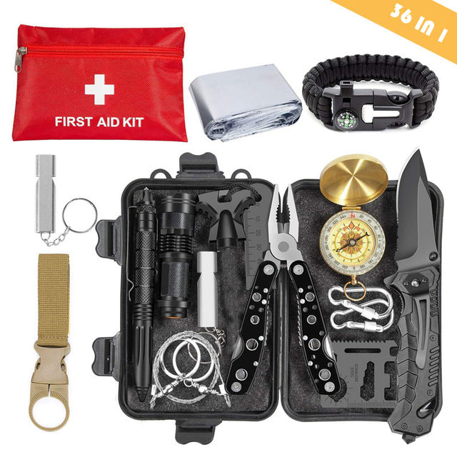 Emergency survival kit survival first aid kit SOS tactical tool - Canada Camp and Hike