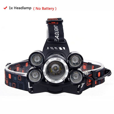 Headlight 4000 Lumen headlamp AC/DC charger option - Canada Camp and Hike