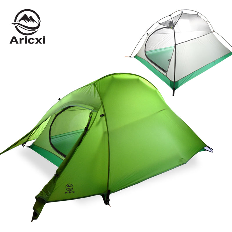 Ultralight Camping Tent Waterproof Outdoor Hiking Tent 20D Nylon Backpacking Tent With Free Mat - Canada Camp and Hike