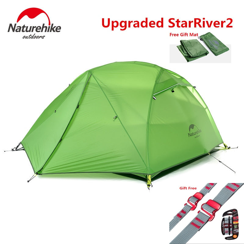 Naturehike factory Starriver2 20D Silicone Fabric Waterproof Double-Layer 2 Person 4 Season Tent - Canada Camp and Hike