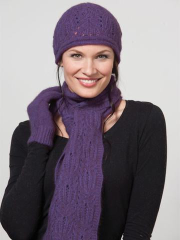 Possumdown chunky cable scarf