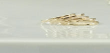 "Load image into Gallery viewer, Laurel Elaine Hammered 14k Gold Filled ""Ultra Thin"" Rings"
