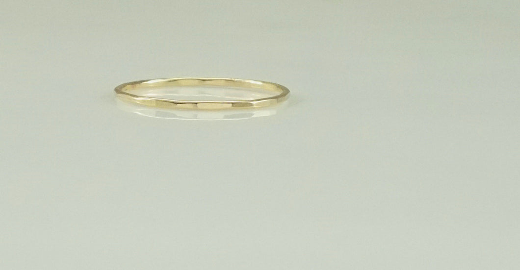 "Laurel Elaine Hammered 14k Gold Filled ""Ultra Thin"" Rings"