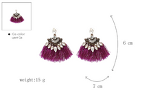 Load image into Gallery viewer, Tassel Fringe Dangle Drop Earrings
