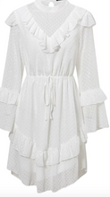 Load image into Gallery viewer, Elegant White Chiffon Dress