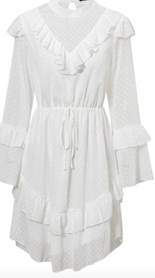 Elegant White Chiffon Dress