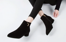 Load image into Gallery viewer, Pointed Toe Ankle Boots