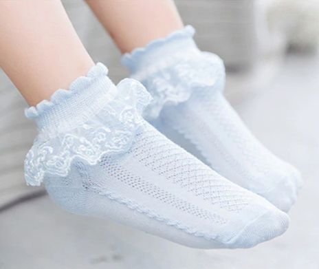Ruffle Accented Baby Socks