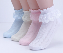 Load image into Gallery viewer, Ruffle Accented Baby Socks