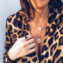 Load image into Gallery viewer, Long Sleeve Deep V Neck Leopard Blouse