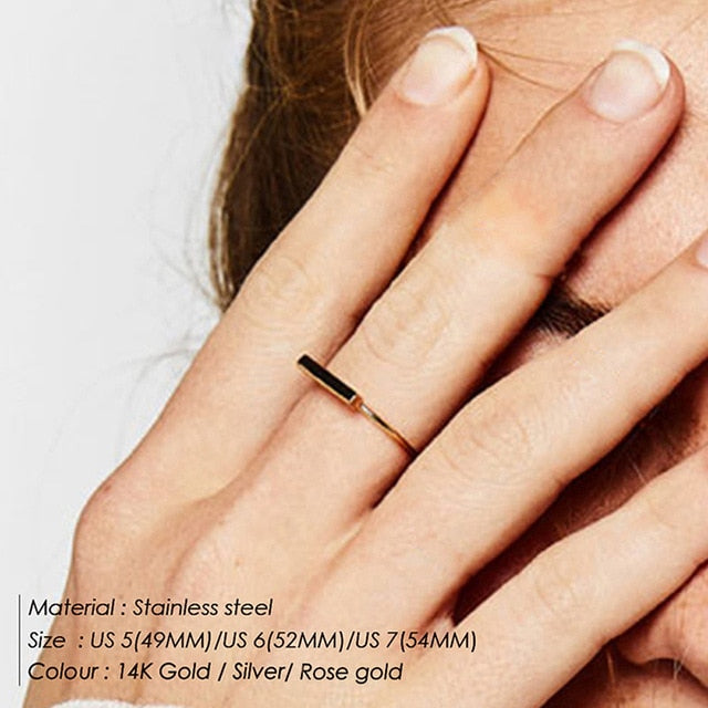 Stainless Steel Stackable Midi Rings