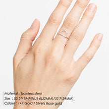 Load image into Gallery viewer, Stainless Steel Stackable Midi Rings
