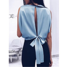 Load image into Gallery viewer, Elegant Big Bow Blouse