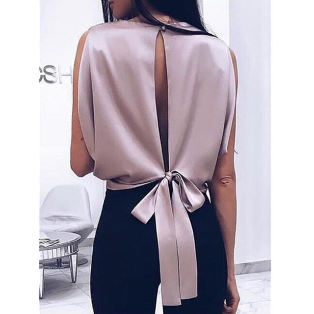Elegant Big Bow Blouse