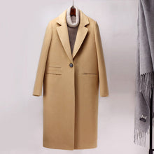 Load image into Gallery viewer, Long Woolen Trench Coat