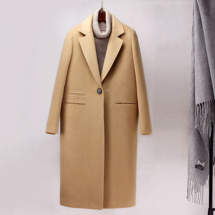 Long Woolen Trench Coat