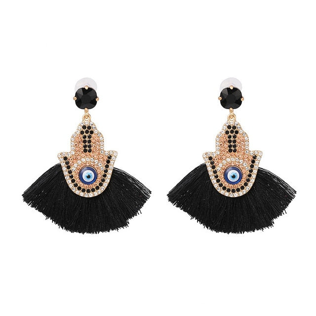 Tassel Fringe Dangle Drop Earrings