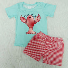 Load image into Gallery viewer, Toddler Boys & Girls Preppy Lobster Print Set