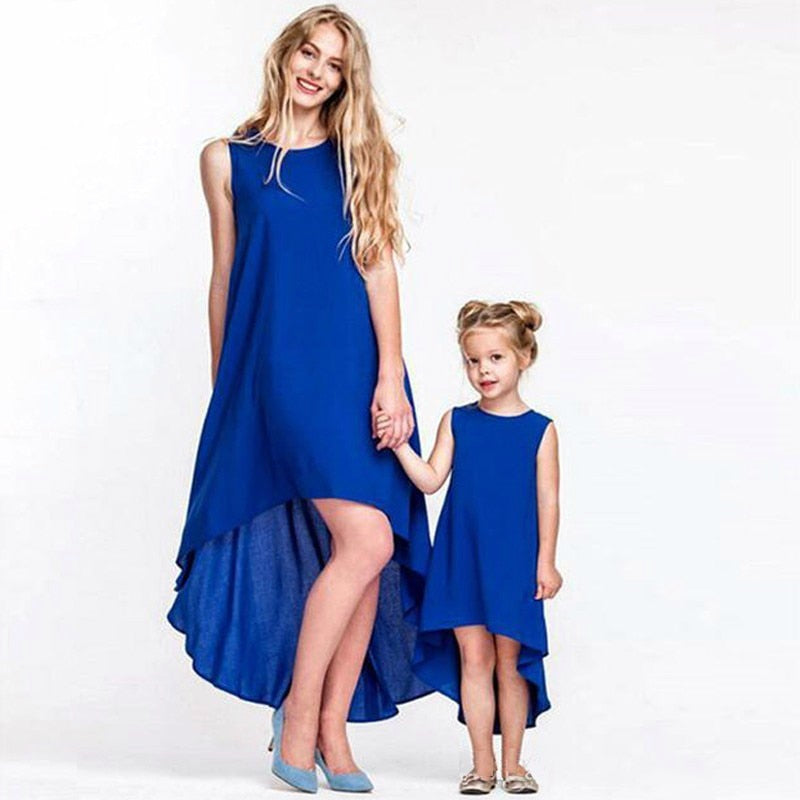 Sleeveless Mother Daughter Dresses